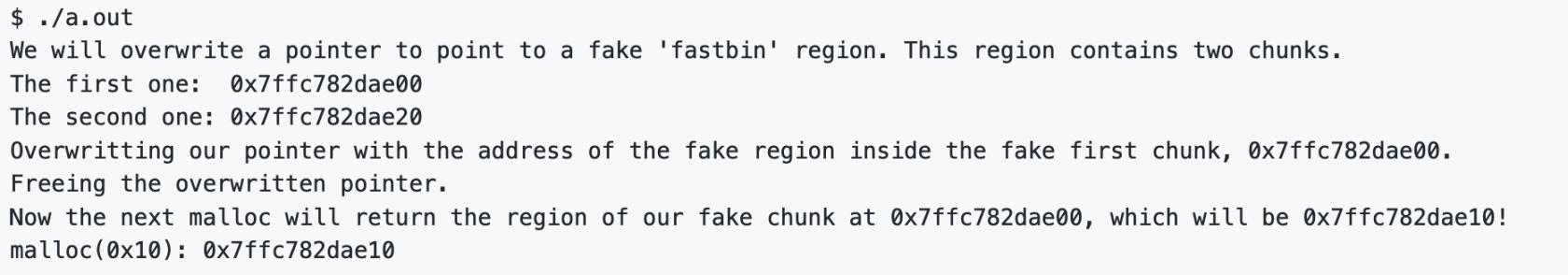 Fastbin Attack 2